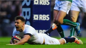 Danny Care dives over for the winning try