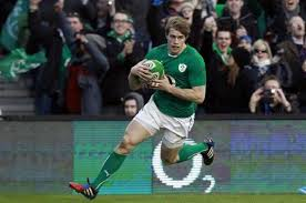 Andrew Trimble runs in for the opening try