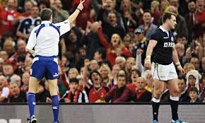 Stuart Hogg receives his marching orders